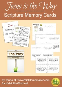 Teach your kids that Jesus is the way with these scripture cards and posters!