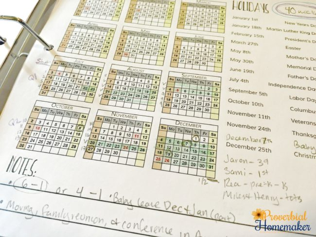 Planning your year round homeschool schedule with a 4-day homeschooling routine