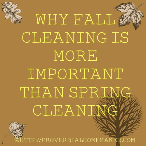 Why Fall Cleaning Is More Important Than Spring Cleaning (+ Free Printable)