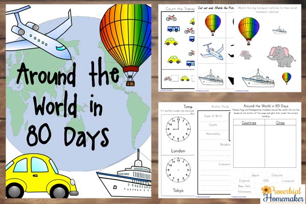 Around The World In 80 Days Unit Study Free Printable