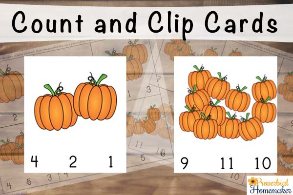 Count and Clip Cards