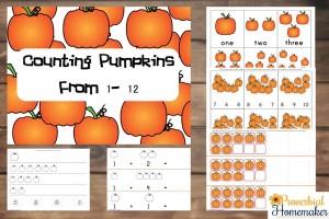 Counting Pumpkins 1-12