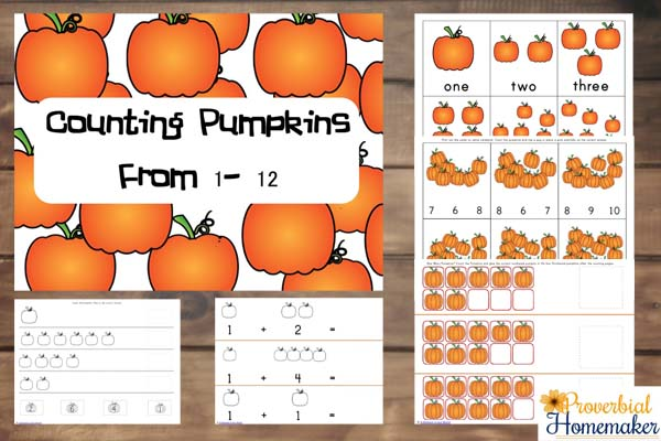Counting Pumpkins From 1 to 12 – FREE Printable Pack!