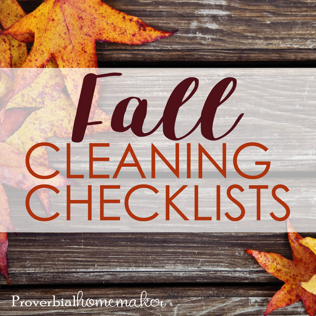 Fall Cleaning Checklists SQ