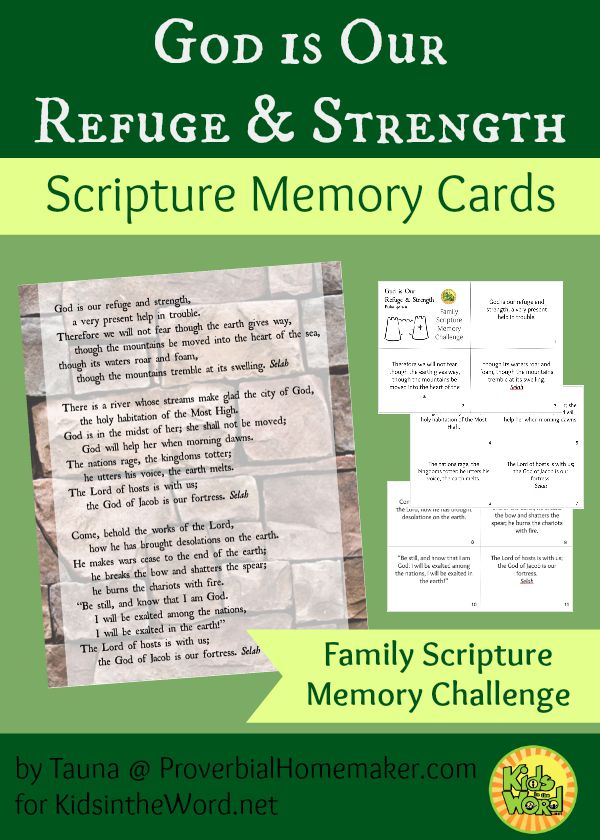 God is Our Refuge and Strength Scripture Memory Cards