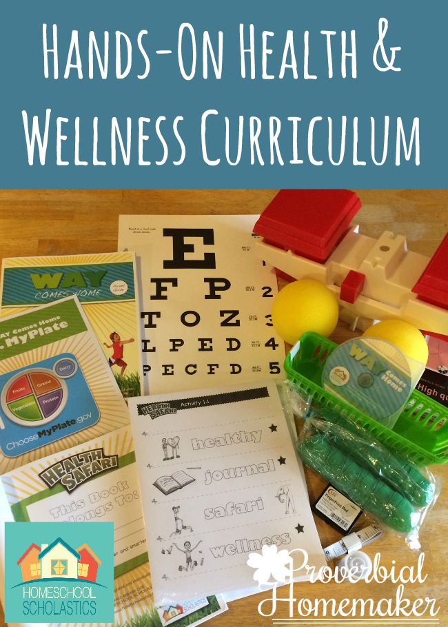 Review of Hands-On Health and Wellness Curriculum from WAY Comes Home and Homeschool Scholastics