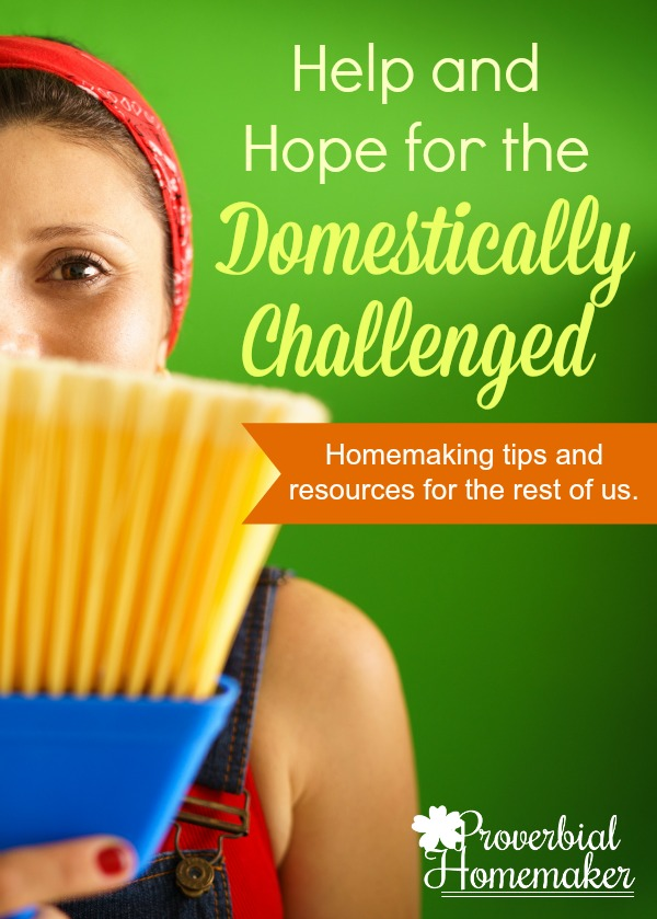 Homemaking tips and resources for the domestically challenged