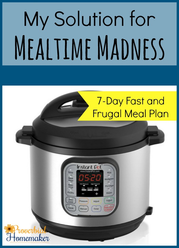 My Solution for Mealtime Madness - Instant Pot Menu Plan and Review
