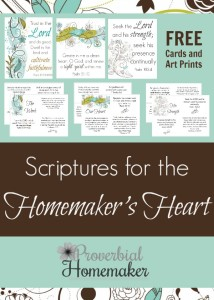 Free printable scripture cards and art prints for homemakers!