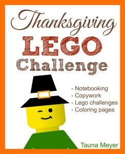 Learn about Thanksgiving with Lego challenges, copywork, notebooking pages, and coloring pages!