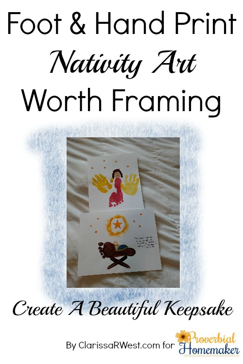 Foot and Hand Print Nativity Art