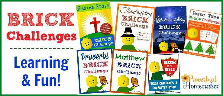 Bible Brick challenges and extra fun activities for a fun and engaging way to learn!