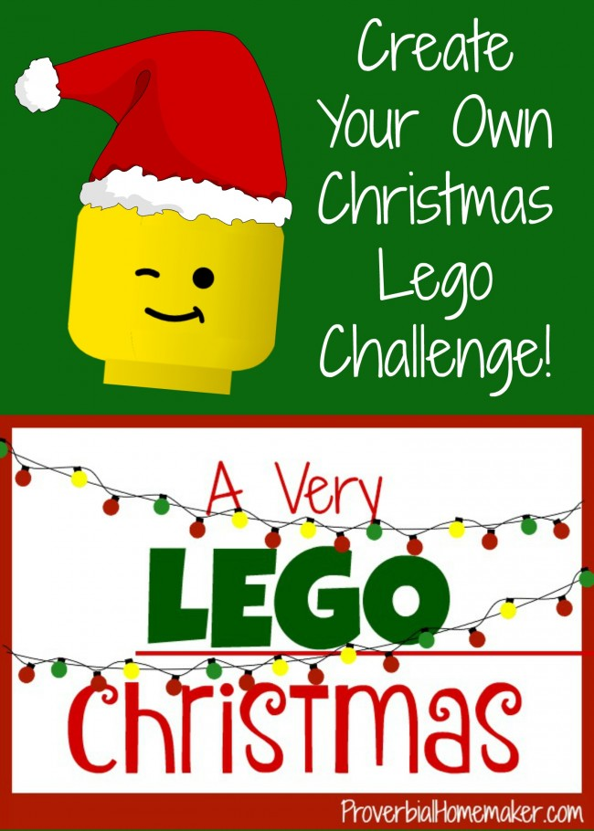 Create Your Own Christmas Lego Challenge A Very Lego Christmas Proverbial Homemaker