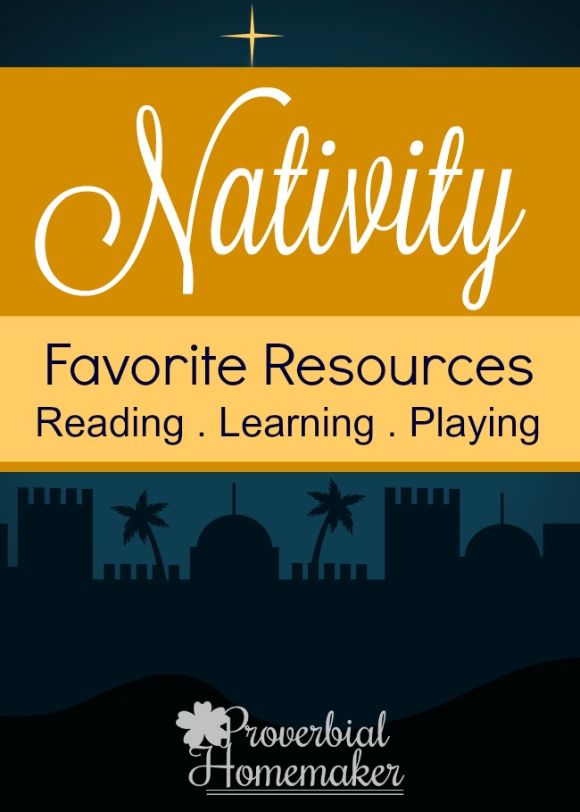 Great books, teaching tools, and toys on the nativity.