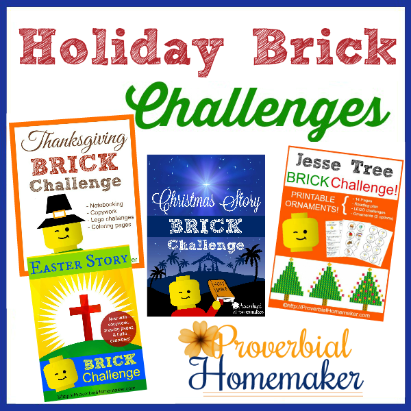 Lego Challenges for Christmas, Thanksgiving, and Easter