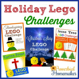 Lego challenges and extra activities to have fun learning time for the holidays!