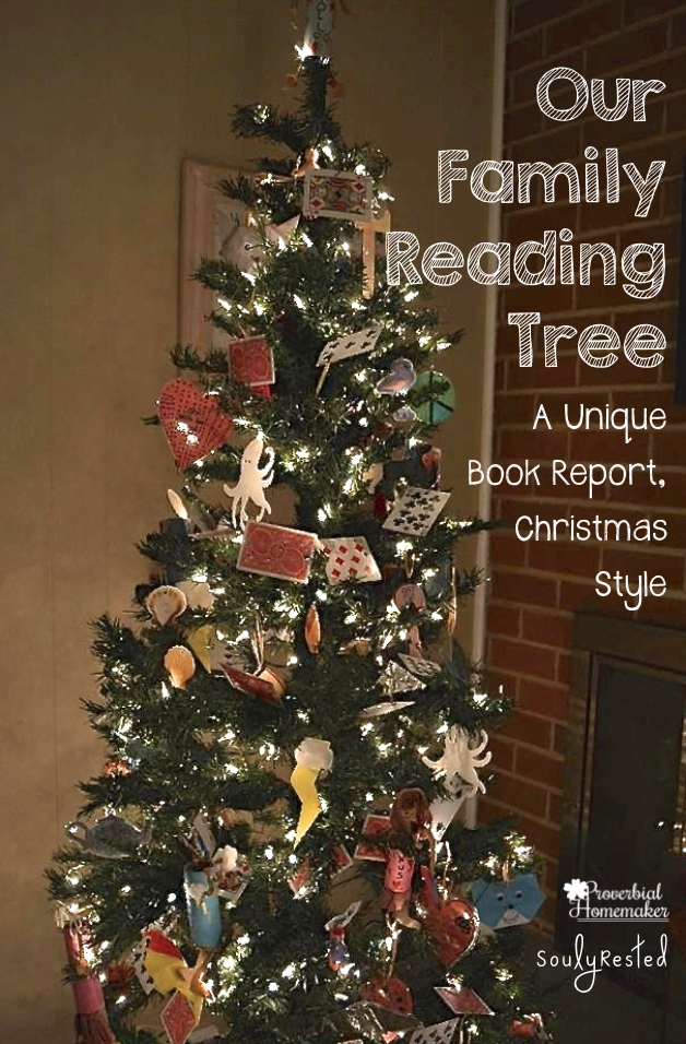 our family reading tree a unique book report christmas style - Christmas Tree Book
