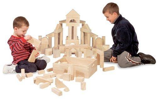 Plain blocks for imaginative building time
