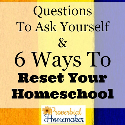 These ideas to reset your homeschool are so good! Great ways to change things up and save the rest of the year.