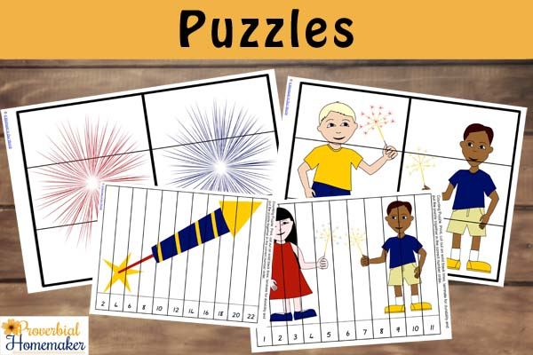 Fireworks Pack Puzzles