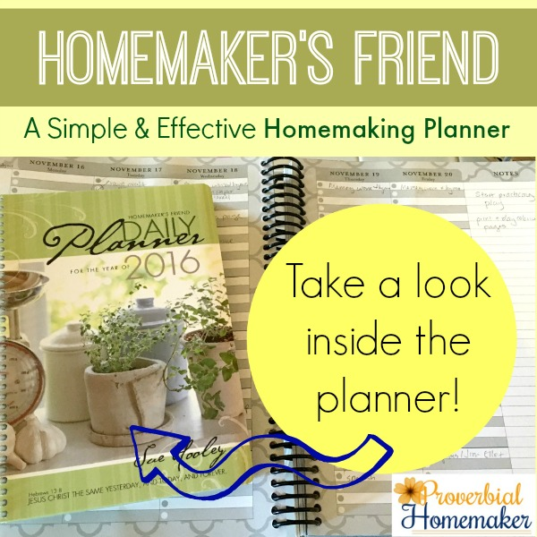 A simple and effective homemaking planner