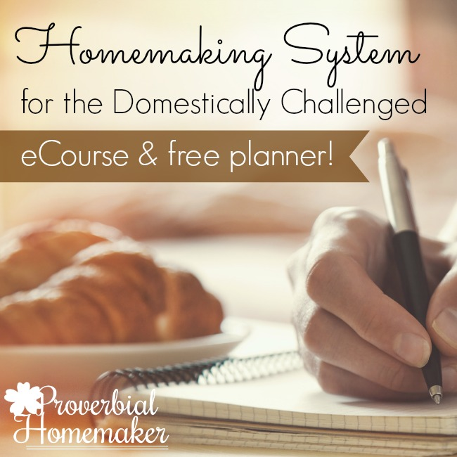 Free ecourse and printable homemaking planner!