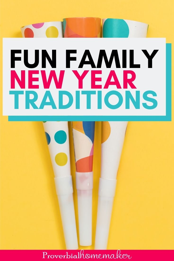 Looking for some family friendly New Year's Eve traditions? You'll love this list of ideas!