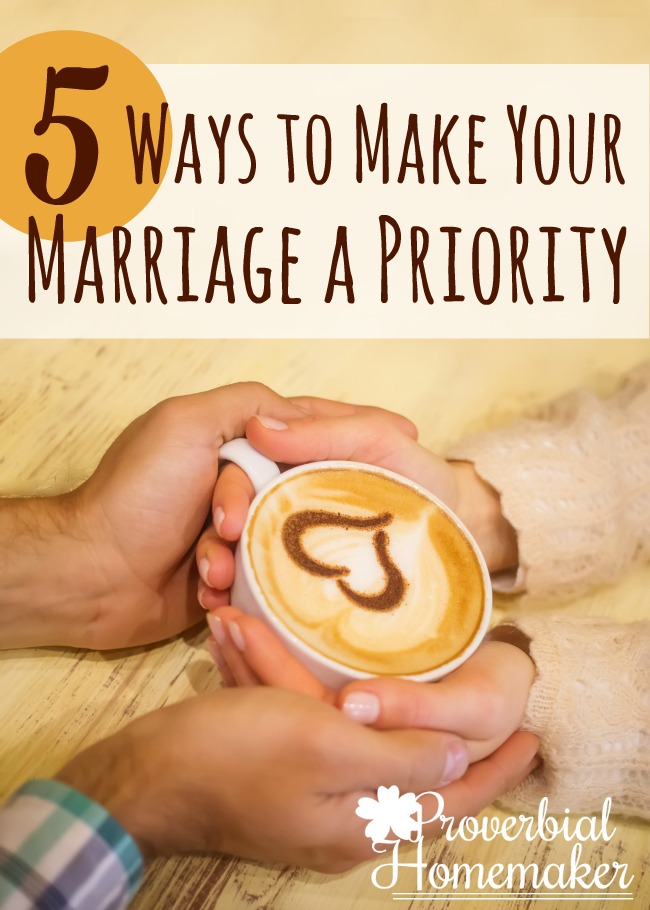 Great tips! I've been wanting to focus more on making my marriage a priority.