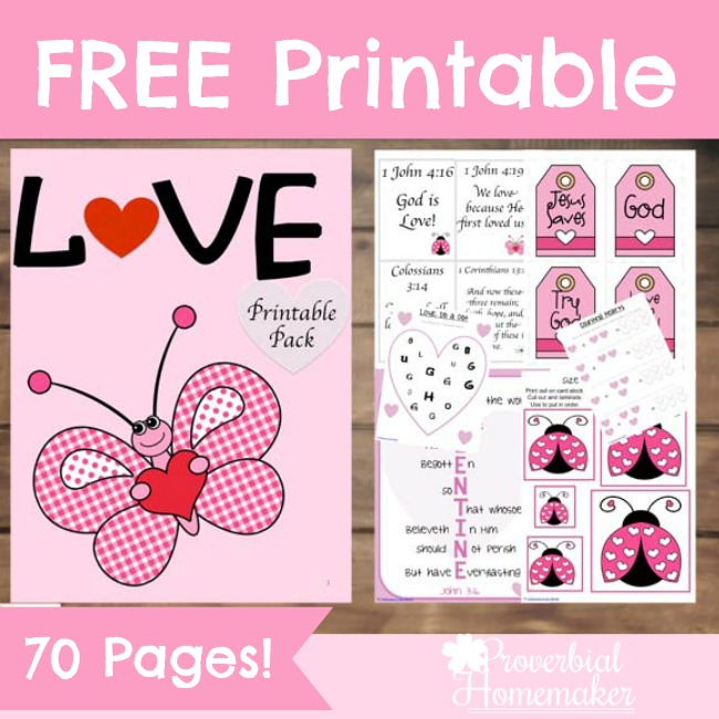 What an adorable scripture-based love printable pack! Perfect for valentine's day or anytime. Love the scriptures!