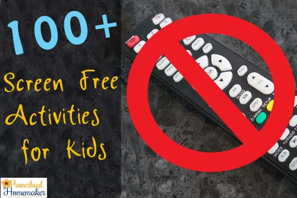 Screen Free Activities for Kids