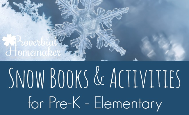Looking for snow books and activities for learning and fun? Check out this BIG list!
