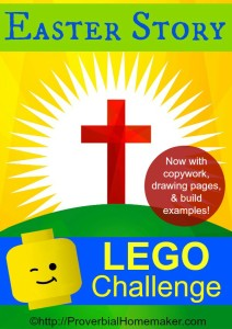 Easter Story Lego Challenge! What a fabulous way to incorporate hands-on learning with the Bible!