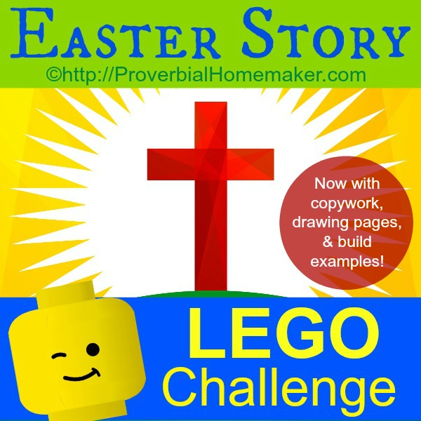 Easter Lego Challenge! What a fabulous way to incorporate hands-on learning with the Bible!