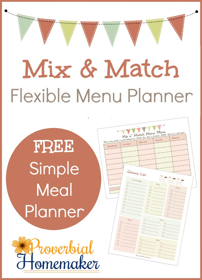 Love how this flexible meal planner is laid out! The video is really helpful too.