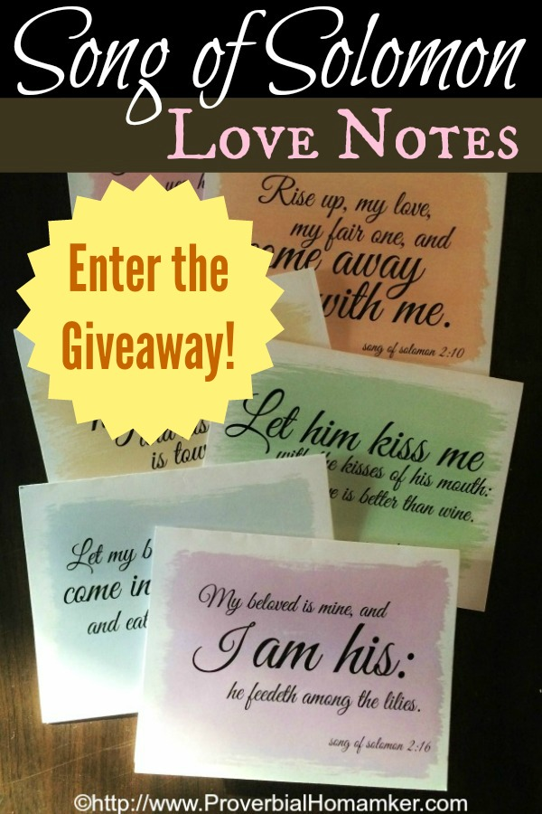 Love these beautiful Song of Solomon cards! Perfect for love notes to the hubs.