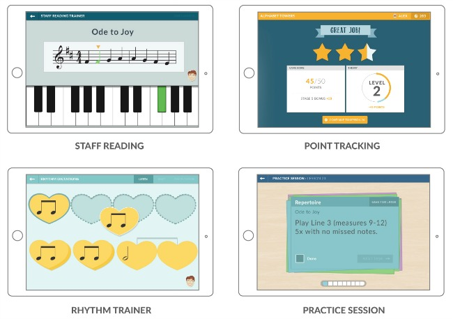 Examples from the Hoffman Academy piano program online - music education for everyone!