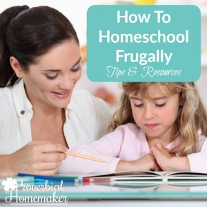 Tips & Resources to homeschool frugally