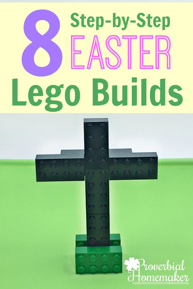 Love these visual build instructions for 8 different Easter Lego builds!