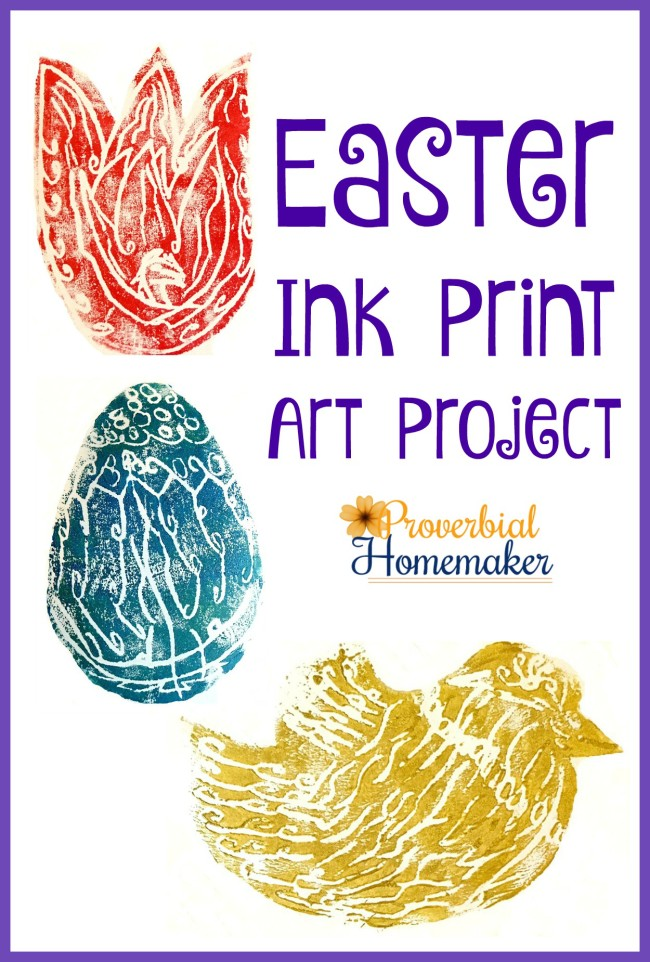 Easter ink print art project - a simple and fun activity for kids!