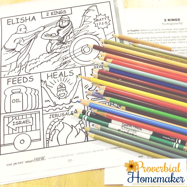Getting Ready To Color For The Picture Smart Bible Hands On Learning Curriculum