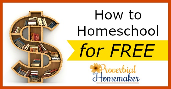Find out how to homeschool for free with great tips and encouragement