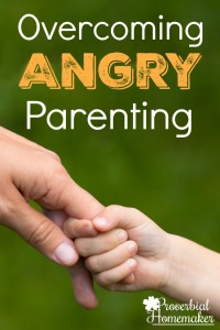 Feeling stuck in your parenting and tired of being angry and frustrated? Check out this biblical resource for overcoming angry parenting!