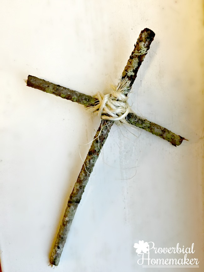 Simple cross to add to a mini Easter garden for a beautiful tradition