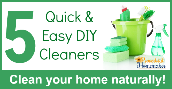 Love these 5 tried and true DIY cleaner recipes for natural household cleaning!