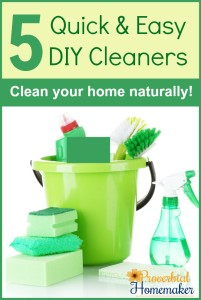 Love these 5 tried and true DIY cleaners for natural household cleaning!