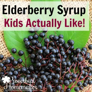Love this simple recipe for elderberry syrup kids like!