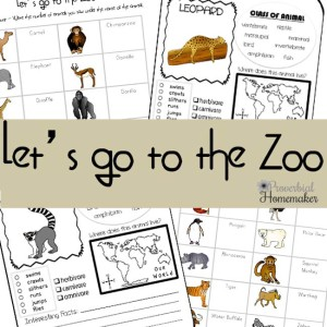 Let's go to the Zoo - Zoo printable pack!
