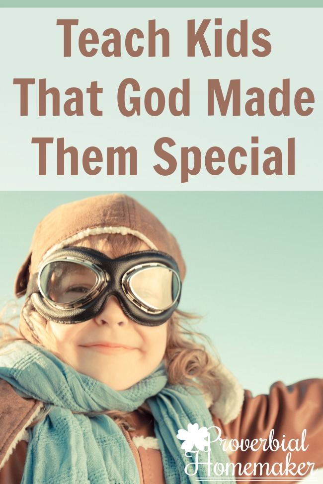 Great resources and simple activities to teach kids God made them special!
