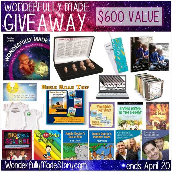 Awesome $600 giveaway of fantastic resources that teach kids God made them special!