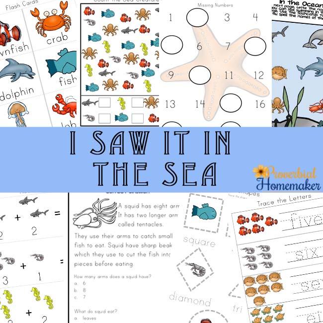 circle the sea creatures pdf activity